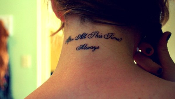 "Tatouage "" Aften All This Time? Always "" cou"