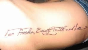 "Tatouage "" For freelerve, beauty Turth and Love "" bras"