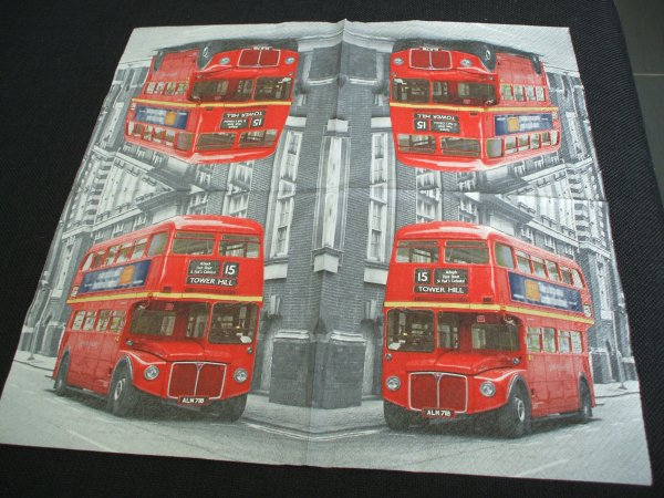 SERVIETTE BUS ANGLAIS