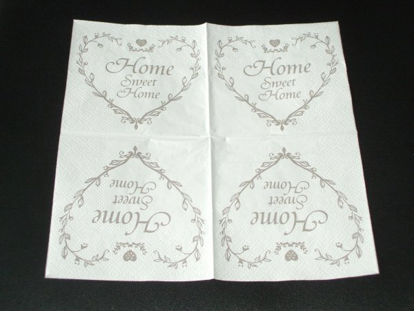 SERVIETTE COEUR HOME SWEET HOME