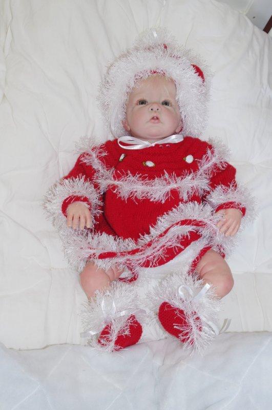 Maybelle en tenue de Noël