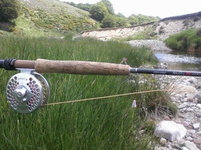 Sortie Aigoual pêche a la mouche. Une jolie journée et beaucoup de petits poissons .