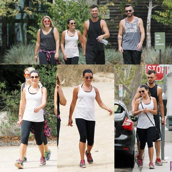 Le 02 août Lea et Matthew lors d'une randonnée avec des amis à Los Angeles