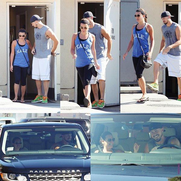 Le 04 août Lea et Matthew ont été aperçu quittant le 'M Cafe'