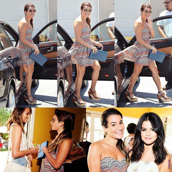 Le 10 août Lea  a été vue à une fête privée à Brentwood.