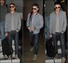 Zac de retou à Los Angeles après avoir filmé quelques sceènes de son nouveau film NEW YEARS'EVE le 8 février