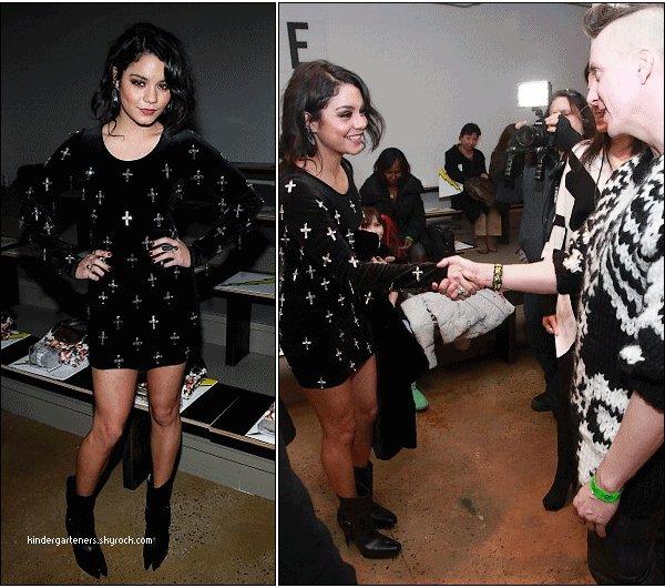 Vanessa à la présentation de Anna Sui // Le 16 février 2011,puis au défilé de Marchesa pour l automne et ensuite à la presentation de la collection de Jeremy Scott