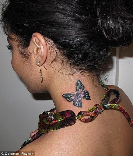 "VANESSA HAS OFFICIALLY A TATTOO NOW =)=) It's a butterfly like"" vanessa"" means"