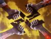 « Les mains alliées brisant la croix gammée »,