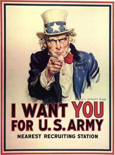 uncle sam i want you for u s army par james montgomery flagg blog de la classe de 3b du. Black Bedroom Furniture Sets. Home Design Ideas