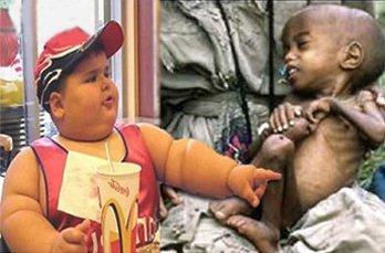 Certains sont préoccupés par leur régime...d'autres se battent contre la famine
