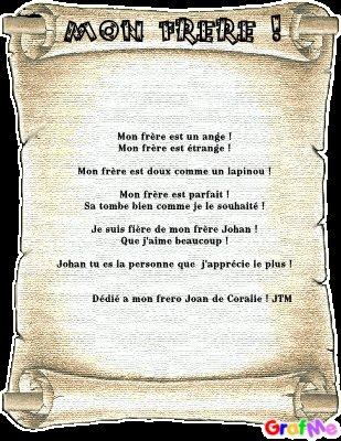 Ce Poeme Est De Moi Pour Mon Frere Blog De Dolceandgabbana18