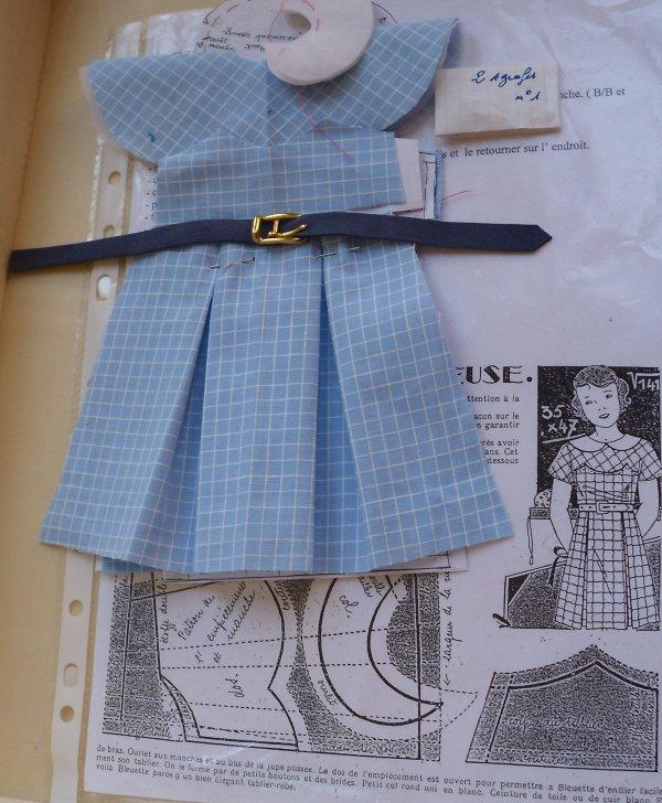 bleuette ...robe tablier 1936 en KIT - Blog de poupeecouture59