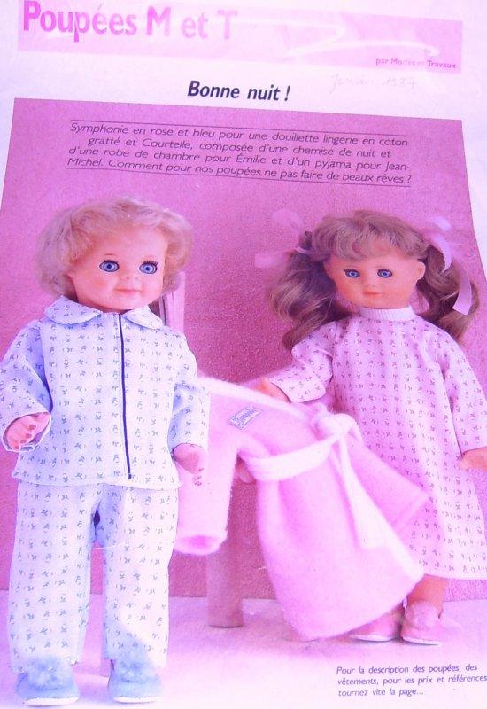 KIT ensemble robe de nuit et peignoir EMILIE 1-87