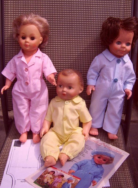 nouveaux kits modes et travaux : les 3 tenues d' avril 1985 rose, bleu, jaune