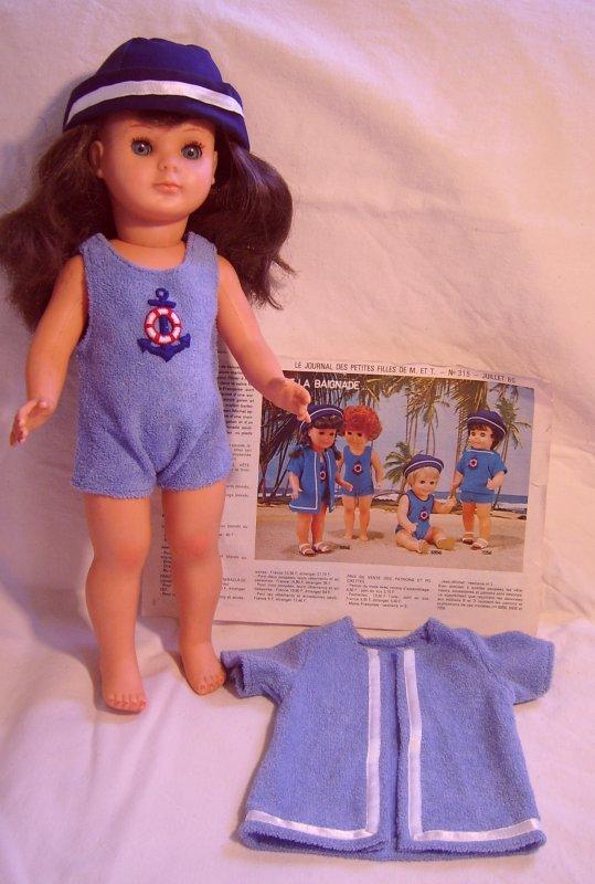 ensemble maillot bain et sortie de bain marie francoise juillet 1980
