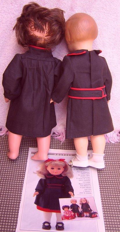les blouses tabliers de marie françoise et jean michel, septembre 1985
