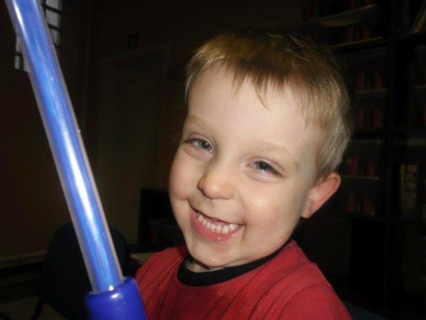mon fils avec son jolie sourir