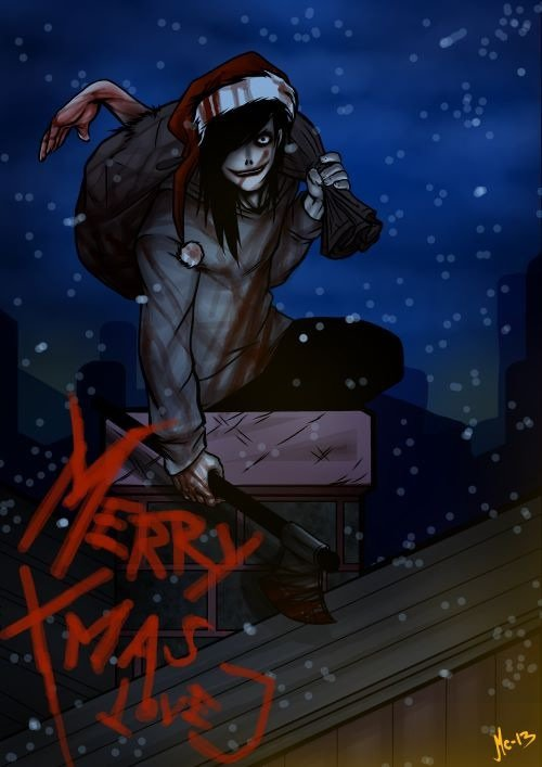 Jeff The Killer est maintenant Jeff The Santa Claus x)