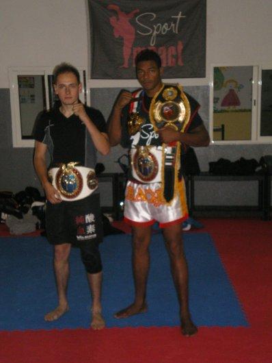 moi et hassan baou après 2 jours d'entrainement