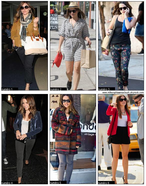 SophiaParmis les tenues suivantes, quelle est votre préférée ? Vos réponses dans les commentaires :) Sophia