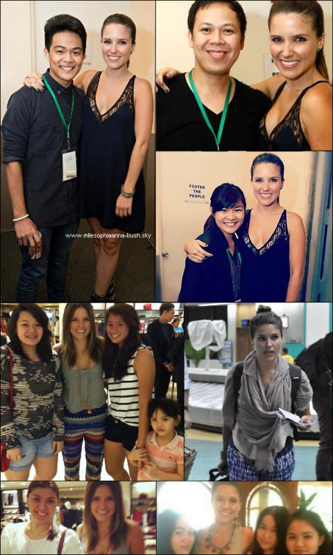 -Mais où était-elle passée ? Nous n'avions pas beaucoup de nouvelles de Sophia ces derniers temps, et pour cause... La miss est à Manille avec le groupe Foster the people. Voici quelques photos.  -