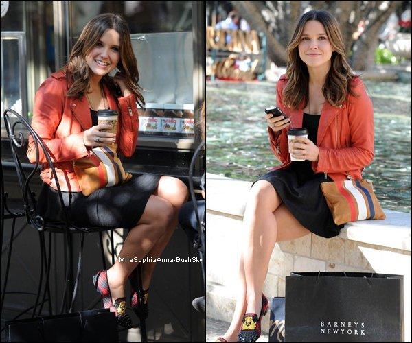 -11/11 : Sophia à été vue faisant du shopping à Glendal, au centre commercial The Americana at Brand. Je la trouve radieuse et très souriante. -