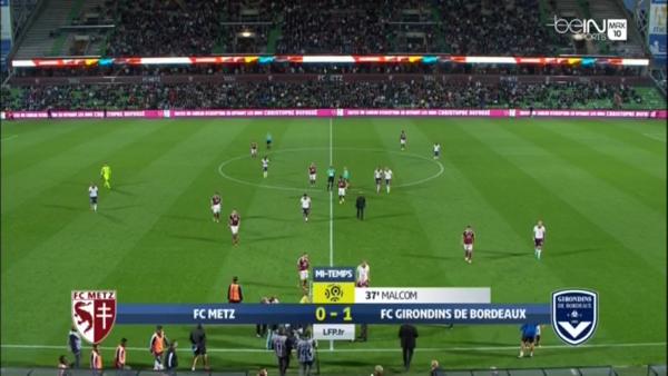 6e journée Ligue 1 ; 1ere mi-temps ( bordeaux 1 - 0 metz ) un bordeaux solide et but de malcon