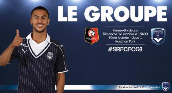 Match - Les 18 bordelais à Rennes
