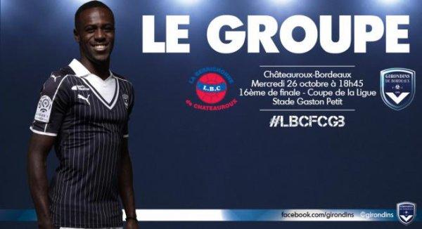 Groupe - 18 joueurs pour Châteauroux