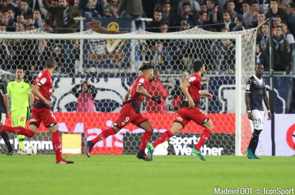 14e journée Ligue 1 ; 1ere mi-temps ( bordeaux 0 - 1 dijon ) ou son les bordelais dans cette 1ere mi-temps.
