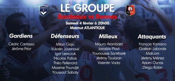 Bordeaux : deux des trois recrues hivernales dans le groupe contre Rennes