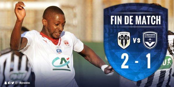 COUPE DE FRANCE 1/4 de finale  2eme mi-temps ( angers 2 - 1 bordeaux ) la victoire pour angers.