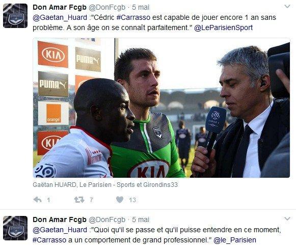 """Gaëtan Huard : """"Quoi qu'il se passe, Cédric Carrasso a un comportement de grand professionnel"""""""