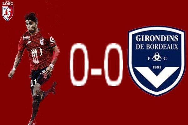 Ligue 1 Vendredi 8 septembre 2017 Journée 5  (Lille 0-0  Bordeaux) bordeaux prend 1 pts. a 11 contre 10 les girondins rate les 3 pts.