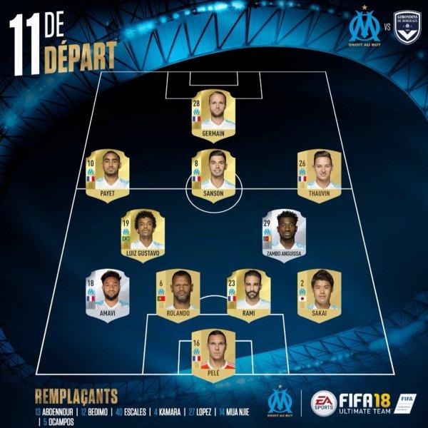 Ligue 1 Dimanche 18 février 2018 Journée 26 Marseille      Thauvin35'  Bordeaux  1-0 Marseille Bordeaux