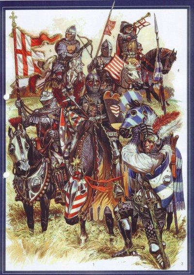 Tenues militaires Europe orientale et Est au 14° siécle , sortez de la grisaille .