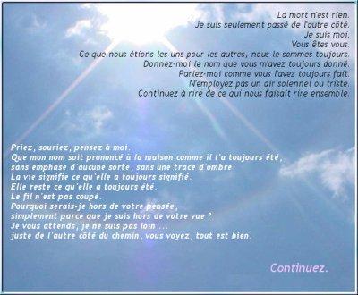La lettre du ciel repose en paix maurice ma ptite vie tout simplement - Je veux faire une fausse couche ...