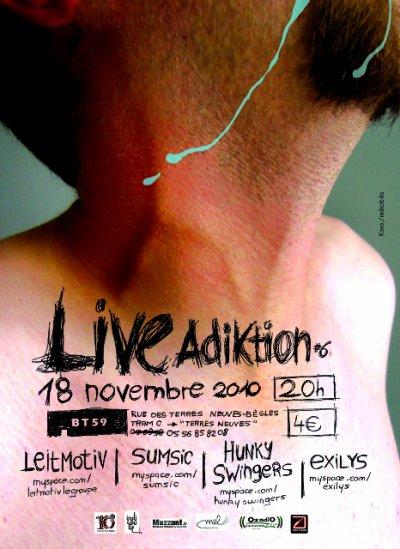 Prochain concert, le jeudi 18 novembre au BT59, Bègles!
