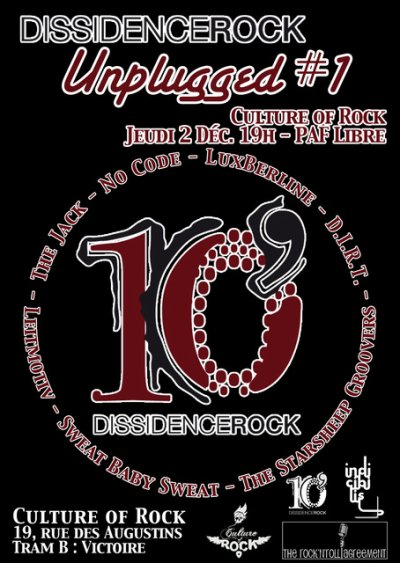 Prochain concert, le jeudi 3 décembre à Culture Of Rock (ex-Cave Belge), Bordeaux!