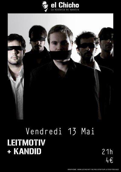 Prochain concert, le vendredi 13 mai à El Chicho, Bordeaux!