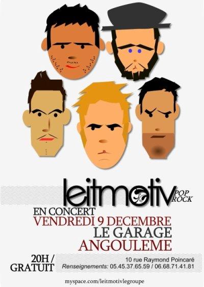 Prochain concert, le vendredi 9 décembre au Garage (ex-Mars Attack), Angoulême!