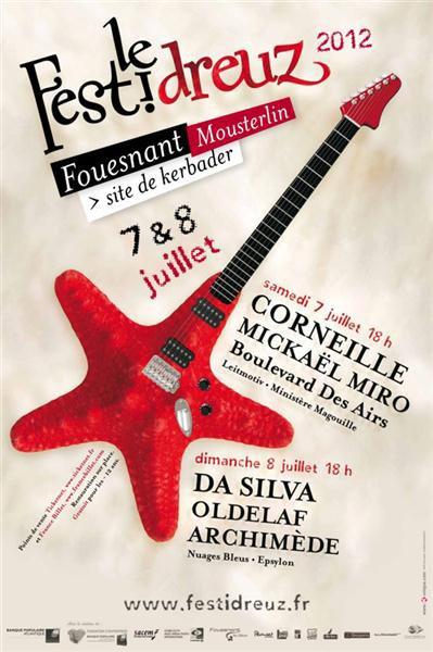 Prochain concert, le samedi 7 juillet au Festidreuz, site de Kerbader, Fouesnant!