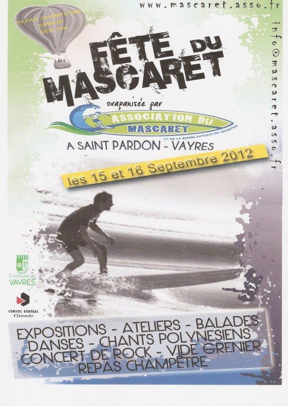 Prochain concert, le samedi 15 septembre, fête du Mascaret, à Saint-Pardon de Vayres!