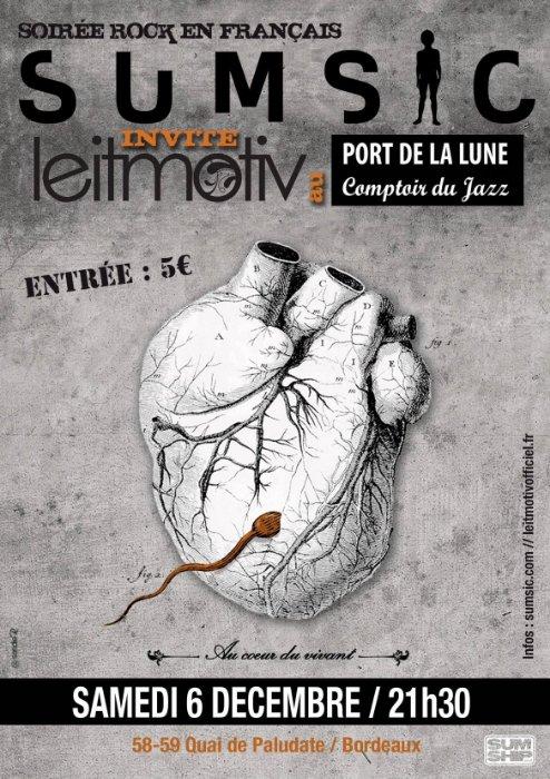 Prochain concert, le samedi 6 décembre au Comptoir du Jazz, Bordeaux!