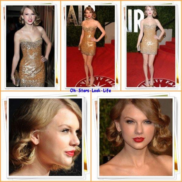Taylor a assisté à la '2011 Vanity Fair Oscar Party' qui s'est déroulée a West Hollywood. Mais qui est la plus belle en Robe Rouge ? UNE ROBE ROUGE !?!?!?