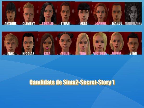 Candidats de Sims2-Secret-Story 1