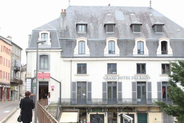 hotel des thermes à Salins Les bains février 2016