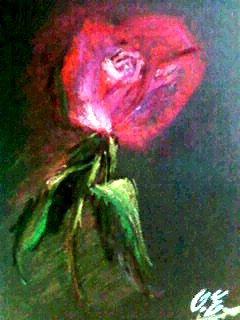 Une rose de pastel...
