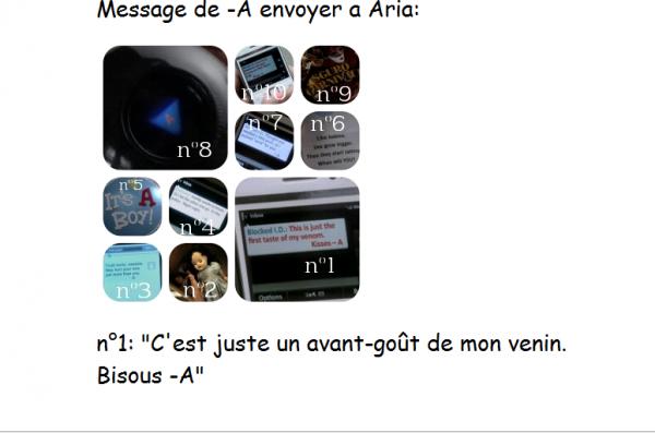 MESSAGE D'ARIA DE LA PART DE -A